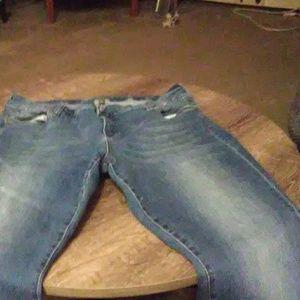 Blue jeans strait leg